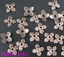 500Pcs Antiqued copper plt 4-leaf bead caps A124