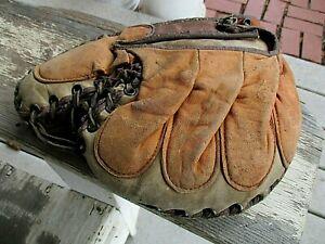 Vintage*Baseball*Catchers*Glove*Mitt*