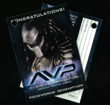 ALIEN VS PREDATOR AVP (Inkworks/2004) VOIDED PIECEWORKS REDEMPTION CARD #PWR1