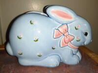 Vintage Japan OTAGIRI Ceramic Bunny Rabbit Napkin Holder~ Spring Easter
