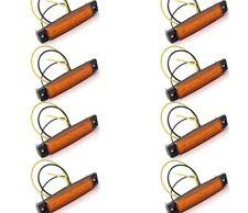 8 X SEGNALATORE LUCI INGOMBRO LED 12V COLORE ARANCIONE CAMION, RIMORCHI, CAMPER
