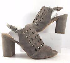 Halogen Stone Suede Zoey Laser Cut Open Toe Slingback Sandals Womens Size US 8M
