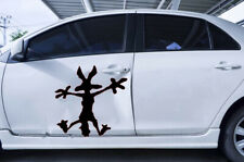 2x Wile E Coyote Hitting Wall Splat Wiley Vinyl Decal Sticker Different colors