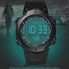 Uomo LCD Impermeabile Silicone digitale Data Sport Cronometro Orologio HONHX lk