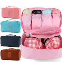 Portable Bra Case Travel Underwear Lingerie Organizer Pouch Bag Case
