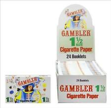 Gambler 1 1/2 1.5 Rolling Papers - Box 24 PACKS - Cigarette Tobacco RYO Fast