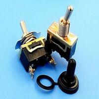 1Set Durable 12V ON/OFF Small SPST Toggle Switch Miniature + Waterproof Cover