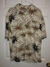 Bruno New York Mens Short Sleeve Hawaiian Shirt Size XL button up Tropical NY