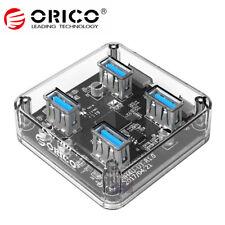 ORICO 4 Ports USB 3.0 5Gbps Transparent Desktop HUB External Power Supply Laptop