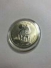 2011 1 Oz .999 Fine Silver Canadian Maple Wildlife Series Timber Wolf