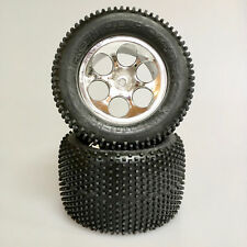 1:8 Monster Tyres Dominator with Rim Chrome for Traxxas Hpi Kick Fresh Team Or