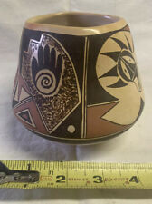 hopi pottery jar with painted bear paws  20th Century Exellent Cond