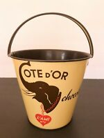 Cote D'Or Elephant Beach Sand Bucket Pail 1960s Vintage Collectible Chocolate