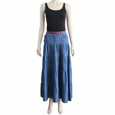 Machine Washable Long Solid 100% Cotton Skirts for Women