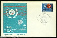 URUGUAY CENTENARY OF THE INT'L TELECOMMUNICATION UNION STAMP  FIRST DAY COVER