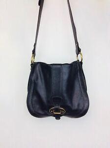 Fossil Vintage Reissue Leather Crossbody Saddle Bag Black