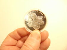 60th anniversary of End of World War II commemorative silver plated medal