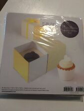 New Paper Eskimo Cupcake Gift Box 6pc Yellow