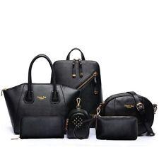 Women 6pcs Leather Backpack Shoulder Handbag Lady Tote Purse Bag Storage Wallet