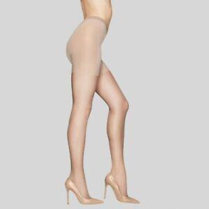 Hanes Premium Women's Silky Sheer Control Top Pantyhose - Nude L