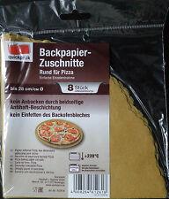 Backpapier Rund Zuschnitte  für Pizza bis Ø28cm   8 Stück Packg.  quickpack