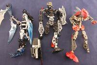 Lego Bionicle – Lot of Three (3) Figures, Incomplete Figures