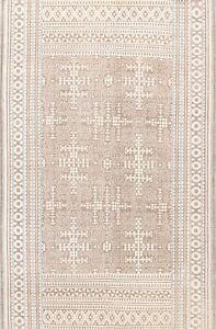 Vintage Style Geometric Oushak Oriental Area Rug Brown Handmade Wool 8x10 Carpet