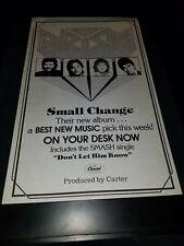 Prism Small Change Rare Original Radio Promo Poster Ad Framed!