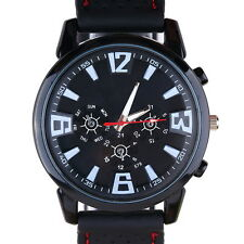 Luxury Military Pilot Army Outdoor Style Silicone Mens Wrist Watch PF