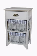 Wicker Basket Drawer Hallway Furniture Cabinet Storage Chest Cupboard Kitchen Mry13-x2 Front Open