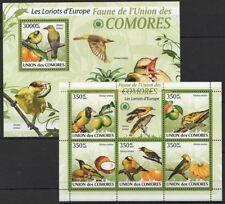 Comoros 2009 MNH MS+SS, Eurasian golden oriole, Birds, Fruits (H5n)