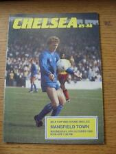 09/10/1985 Chelsea v Mansfield Town [Football League Cup] . Item In very good co