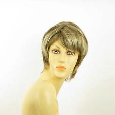 Perruque femme courte blond clair méché cuivré chocolat OCEANE 15613H4
