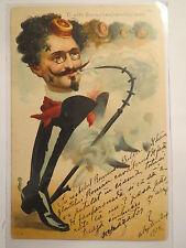O alte Burschenherrlichkeit - 1900 - Student mit Stiefel & Pfeife / Studentika
