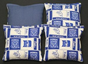 DUKE UNV. 4 CORNHOLE BEAN BAGS ACA Regulation Blue Devils Game Toss Bags