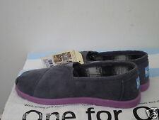 TOMS Shoes Youth Classic GREY CORD POP (GRAY) 4Y fits Wms 6US NWT