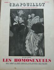 LE CRAPOUILLOT 1955 No SPECIAL LES HOMOSEXUELS VERTES ZOLA BAGNARDS LOTI GIDE