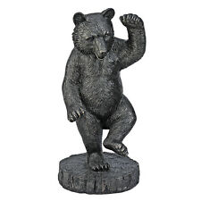 "31.5"" Dancing Black Bear Sculpture Banker & Stock Broker Statue"
