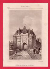 Hôtel de ville de Vandôme  GRAVURE 1845  FRANCE XIV