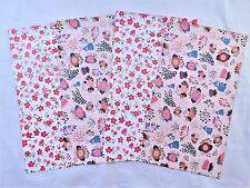 100 Pink Flower Bunny Designer 6x9 Mailers Poly Shipping Envelope Boutique Bag