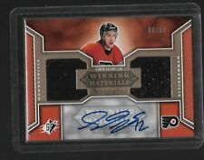 2005-06 SPX HOCKEY SIMON GAGNE AUTO JERSEY #D 6/50 FLYERS CARD