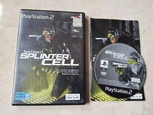 Jeu playstation 2 ps2 Tom Clancy's Splinter Cell pal notice