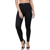 Womens Ex M&S High Waist Skinny Jeggings Grey, Black, Indigo, Medium Blue 6 - 20
