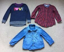 Girls' Checked Cotton Blend Collared T-Shirts, Top & Shirts (2-16 Years)