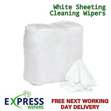 More details for white 100% cotton lint free industrial garage cleaning wiping rags wipers cloths