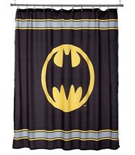 "Warner Brothers/DC Comics Batman Logo 72"" Black/Yellow Fabric Shower Curtain"