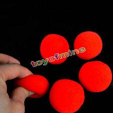 5Pcs 4cm Super Soft Sponge Red Balls Close-Up Magic Street Party Trick Prop