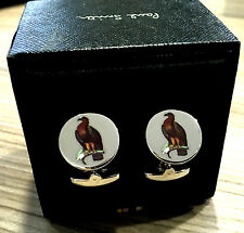 Paul Smith Cufflinks Bird of Prey HIGHLY POLISHED with Signature Swings