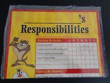 LOONEY TUNES Vintage Responsibility Chart NEW Warner Bros SEALED Sylvester TAZ