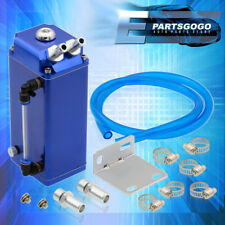 For Chevy Blue Square Aluminum Billet High Capacity Oil Catch Can Reservoir Tank(Fits: More than one vehicle)